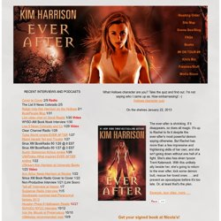 Kim Harrison's web site