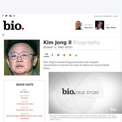 Kim Jong Il - Dictator - Biography.com