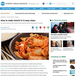 Kimchi: Recipe