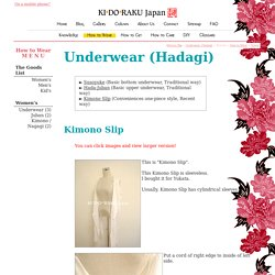 Wear KIMONO : Kimono Slip - KIDORAKU Japan - What a Kimonoful World!