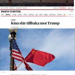 Kina slår tillbaka mot Trump