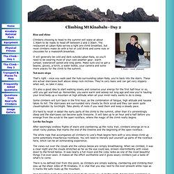 Kinabalu Climb - Day 2 - Climbing Mt Kinabalu in Sabah, Malaysia