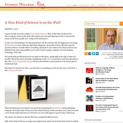 A New Kind of Science is on the iPad!—Stephen Wolfram Blog