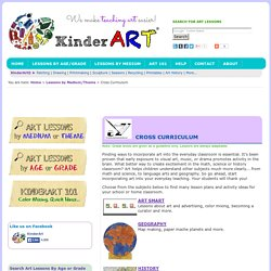 KinderArt - Cross Curricular Lesson Plans That Integrate The Arts Across A Variety Of Content Areas and Subjects