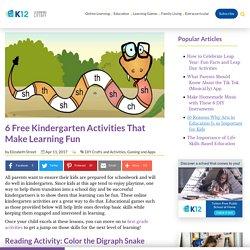 6 Free Kindergarten Activities That Make Learning Fun