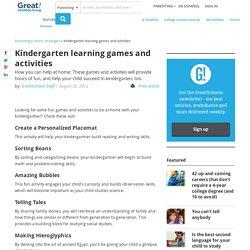 Kindergarten learning games and activities