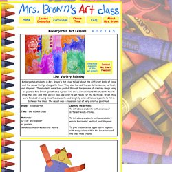 Kindergarten Art with Mrs. Brown