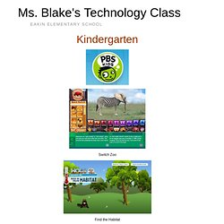 Kindergarten – Ms. Blake's Technology Class