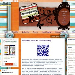 Use QR Codes to Teach Reading