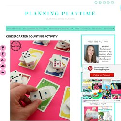 Kindergarten Counting Activity - Planning Playtime