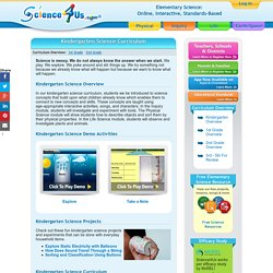 Kindergarten Science Curriculum - Science4Us