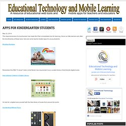 Apps for Kindergarten Students