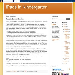 iPads in Guided Reading