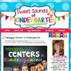 Managing Centers in Kindergarten!