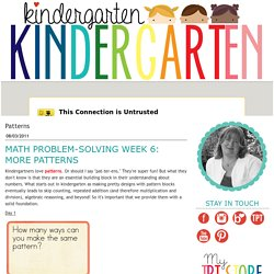 Kindergarten Kindergarten: Patterns