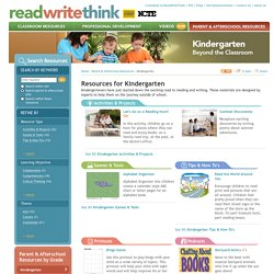 Parent & Afterschool Resources: Kindergarten