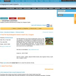 Find The Top Kindergarten School in South City 1 Gurgaon