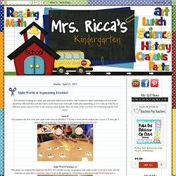 Mrs. Ricca's Kindergarten: Sight Words & Segmenting Freebies!