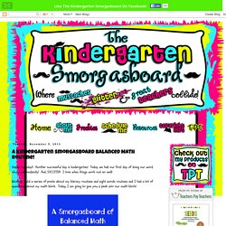 The Kindergarten Smorgasboard: A Kindergarten Smorgasboard Balanced Math Routine!