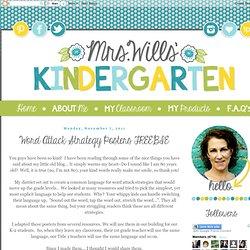 Mrs. Wills Kindergarten: Word Attack Strategy Posters FREEBIE