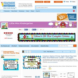littlemisskindergarten Shop - Signup | Teachers Notebook
