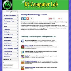 Kindergarten Technology Lessons K-5 Computer Lab