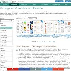 Kindergarten Worksheets - Free Printables for Kindergarten
