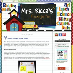 Mrs. Ricca's Kindergarten: Reading Workshop Ideas & Freebies