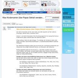Was Kindernamen über Papas Gehalt verraten... - 08.09.06 - Forum