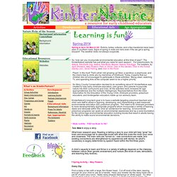 KinderNature :: A Resource For Childhood Educators brought to you by Story County Conservation