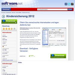 Kindersicherung 2011 v11.277 - Download bei SOFT-WARE.NET