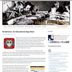 Kindertown: An Educational App Store