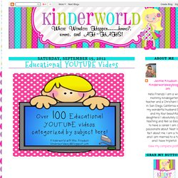 KINDERWORLD: Educational YOUTUBE Videos