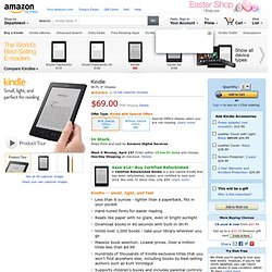 "Kindle 3G Wireless Reading Device, Free 3G + Wi-Fi, 6"" Display, 3G Works Globally - Latest Generation"