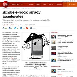 Kindle e-book piracy accelerates