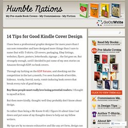 14 Tips for Good Kindle Cover Design