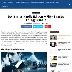 Don't Miss Kindle Edition – Fifty Shades Trilogy Bundle