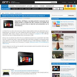 """Kindle Fire et Kindle Fire HD 7"""" déjà en pré-commande sur Amazon.fr"""