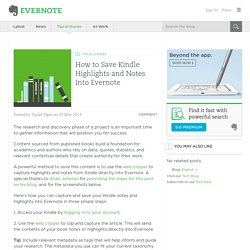 How to Save Kindle Highlights and Notes Into Evernote