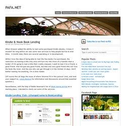 Kindle & Nook Book Lending - pafa.net – pafa.net