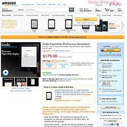 "Kindle Touch 3G: Touchscreen e-Reader with Free 3G + Wi-Fi, 6"" E Ink Display, 3G Works Globally"