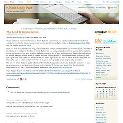 Kindle Post US: The Send to Kindle Button