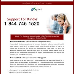 Kindle Fire HDX Device not recognized 1-844-745-1520 Support