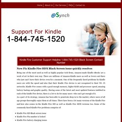 How to Fix Kindle Fire Black Screen/Support 1-844-745-1520 Number