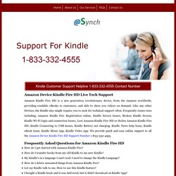 Kindle Fire WiFi Technical Support 1-844-745-1520 Number