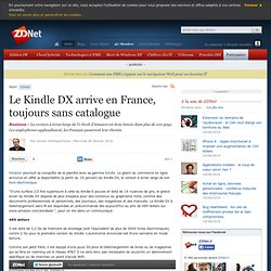 Le Kindle DX arrive en France, toujours sans catalogue
