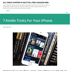 7 Kindle Tricks For Your iPhone