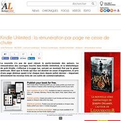 Kindle Unlimited: la rémunération par page ne cesse de chuter