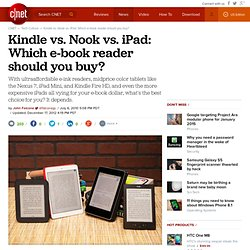 Kindle vs. Nook vs. iPad: