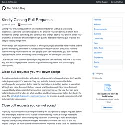 Kindly Closing Pull Requests